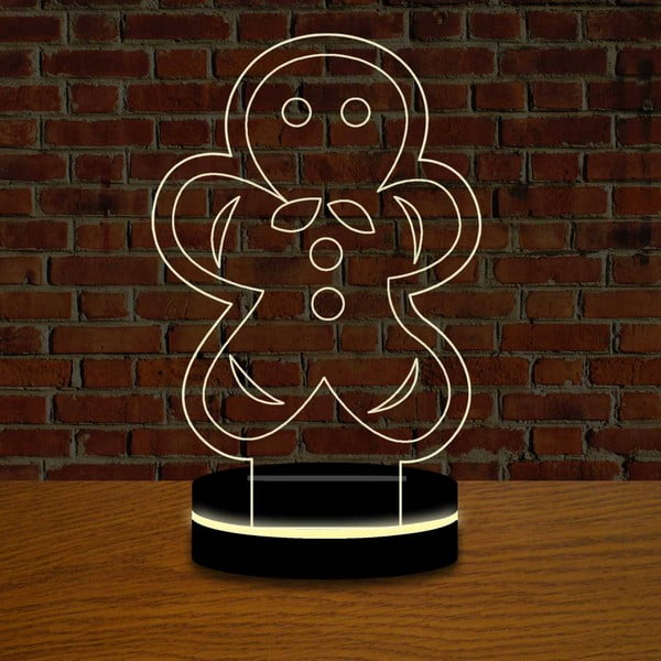 Lampa s 3D efektem Christmas no. 13