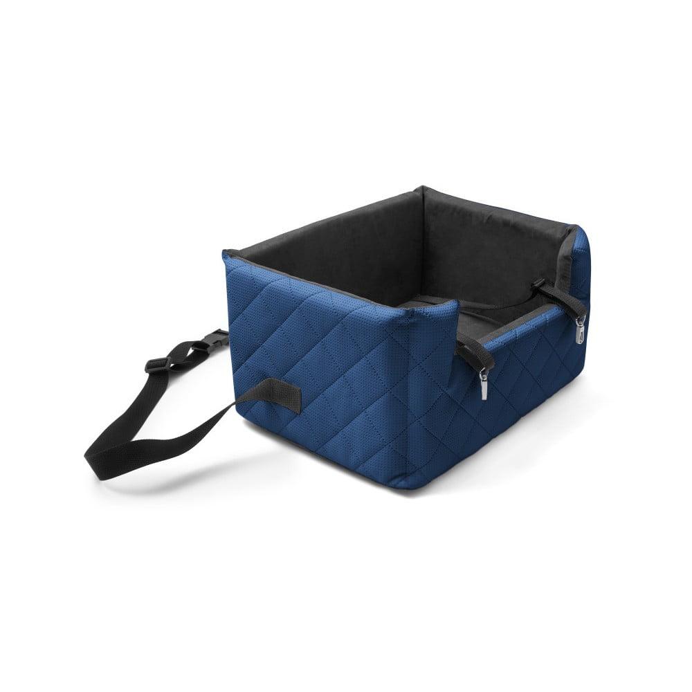 Modrá přepravní taška pro psa do auta Marendog Travel, 40 x 47 x 25 cm