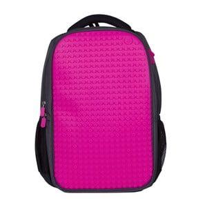 Studentský batoh Pixelbag grey/fuchsia