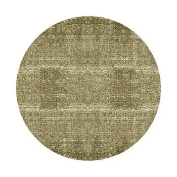 Covor rotund PT LIVING Washed Cotton, ⌀ 150 cm, verde de la PT LIVING