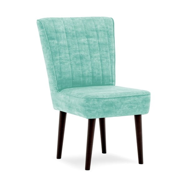 Tyrkysová čalouněná židle Vivonita Leila