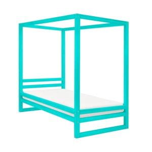 Tyrkysově modrá dřevěná jednolůžková postel Benlemi Baldee, 190x80cm
