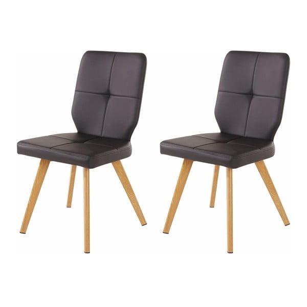 Zestaw 2 czarnych krzeseł Støraa Daniel