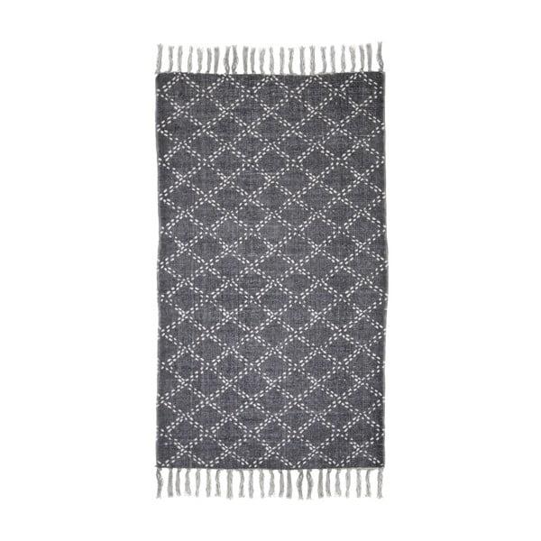 Tmavě šedý bavlněný koberec HSM collection Colorful Living Mano, 150 x 210 cm