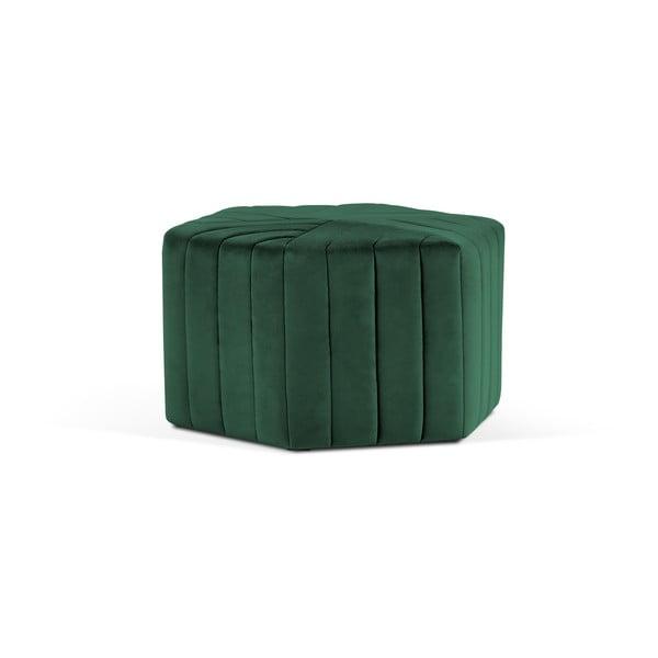 Lahvově zelený puf Milo Casa Alice, ⌀80cm
