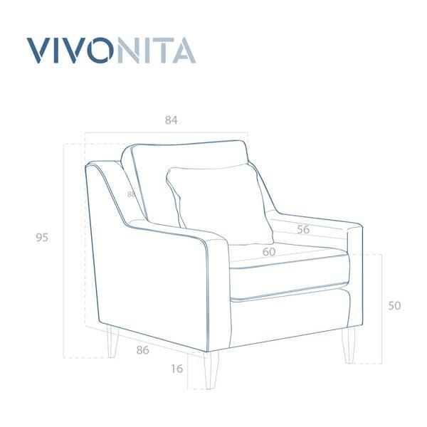 Šedé křeslo Vivonita Bond