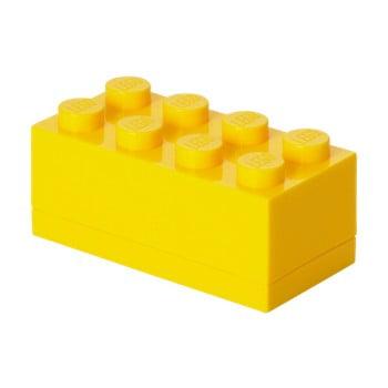 Cutie depozitare LEGO® Mini Box Yellow Lungo, galben
