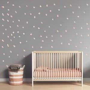 Růžové nástěnné samolepky Art For Kids Dots