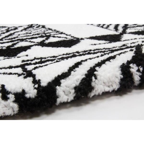 Koberec Aztec, black/white, 80x150 cm