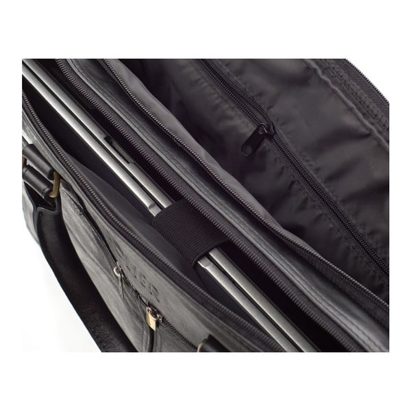 Pánská kožená taška Solier SL01 Black