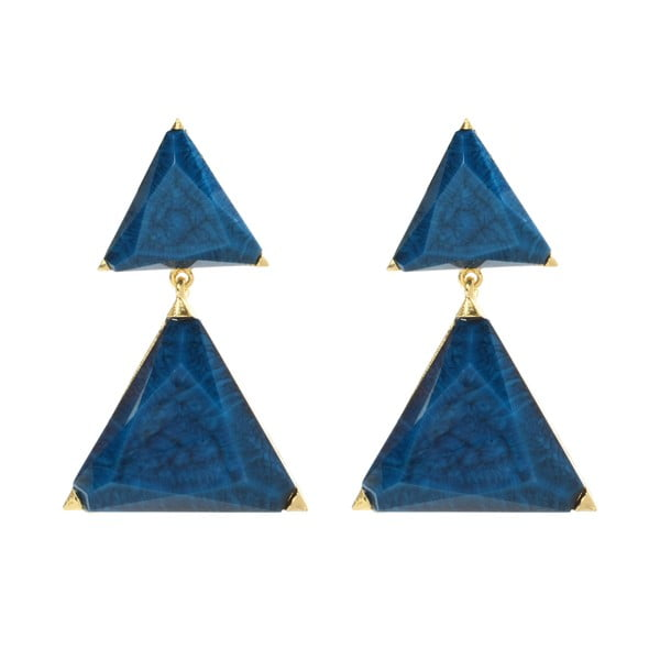 Náušnice Bermuda Blue Lapis