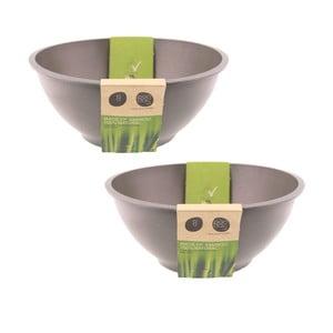 Bambusový set mís, 2 ks, šedé