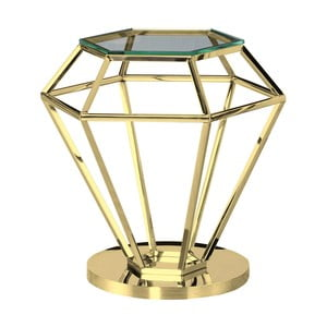 Odkládací stolek ve zlaté barvě Artelore Emanuelle