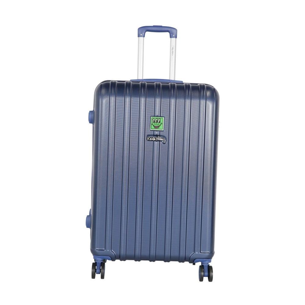 Tmavě modrý cestovní kufr LULU CASTAGNETTE Edge, 107l