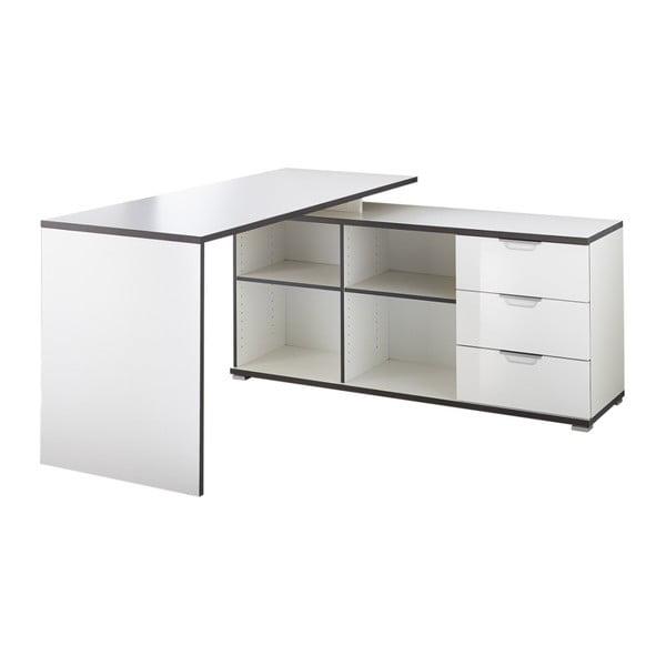 X fehér íróasztal fiókos tárolóasztallal - Germania