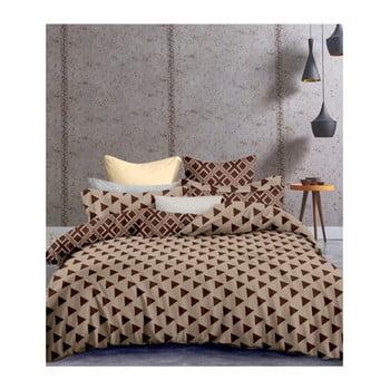 Lenjerie de pat din microfibră pentru pat de 1 persoană DecoKing Hypnosis Triangles, 135 x 200 cm de la DecoKing
