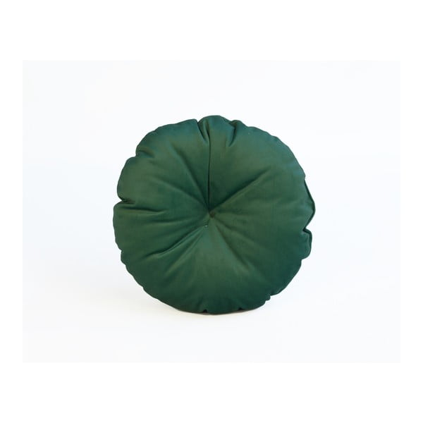 Zelený vankúš z mikrovlákna Surdic Redondo, ø 45 cm