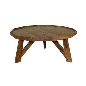Konferenční stolek  z teakového dřeva HSM collection Diamond, Ø50cm
