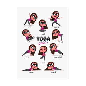 Autorský plakát Antimultivitamin Yoga Class, A3