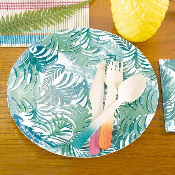 Sada 12 papírových talířů Talking Tables Fiesta Tropico