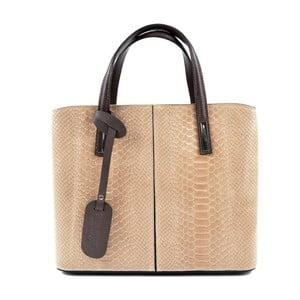 Béžovorůžová kožená kabelka Roberta M Muriella