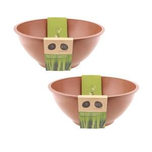 Bambusový set mís, 2 ks, hnědé