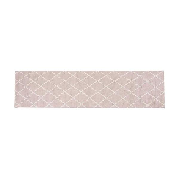 Vysoce odolný kuchyňský koberec Webtappeti Lattice Sand,80x130cm
