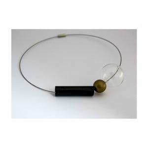 Skleněný obručový náhrdelník Ko–ra–le GeomeTRIgold