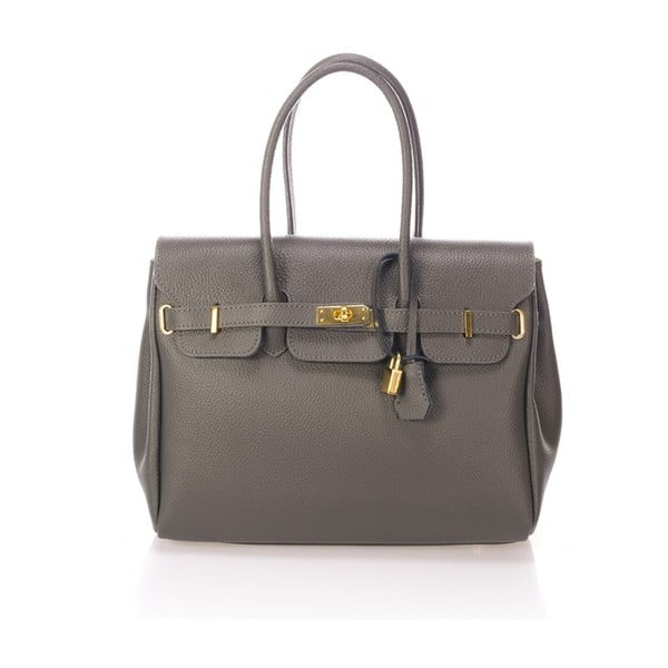 Šedá kožená kabelka Giulia Massari Birdie