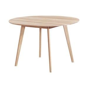 Jídelní stůl z běleného dubového dřeva Folke Yumi, ∅115cm
