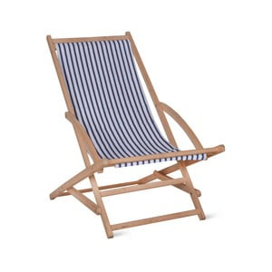 Șezlong de grădină Garden Trading Rocking Deck Chair Blue Stripe