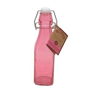 Růžová láhev s klipem Kilner, 0,25 l