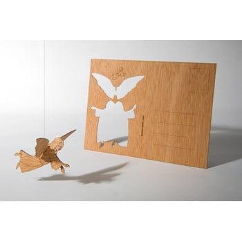 Carte poștală din lemn Formes Berlin Anděl, 14,8 x 10,5 cm