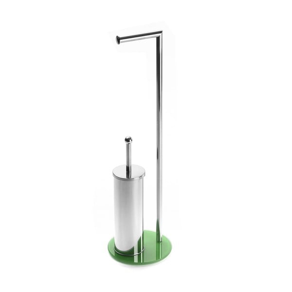Zestaw uchwytów na papier toaletowy i szczotki do WC Versa Double Green, wys. 70,5 cm
