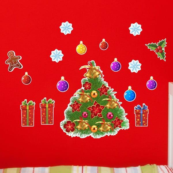Samolepky Christmas Tree and Flakes