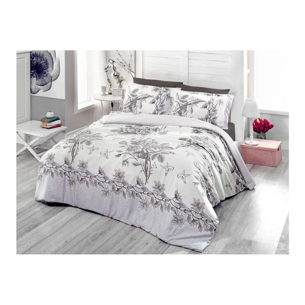 Lenjerie de pat cu cearșaf Rosa, 200 x 220 cm