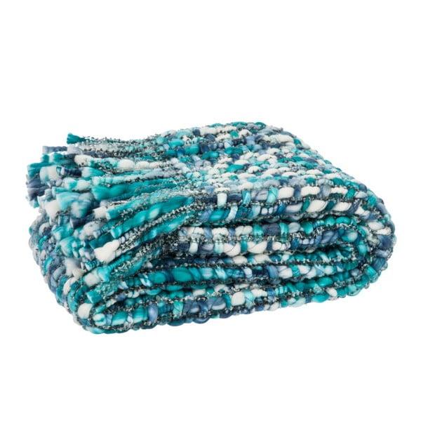 Pléd Fringes Blue, 125x150 cm