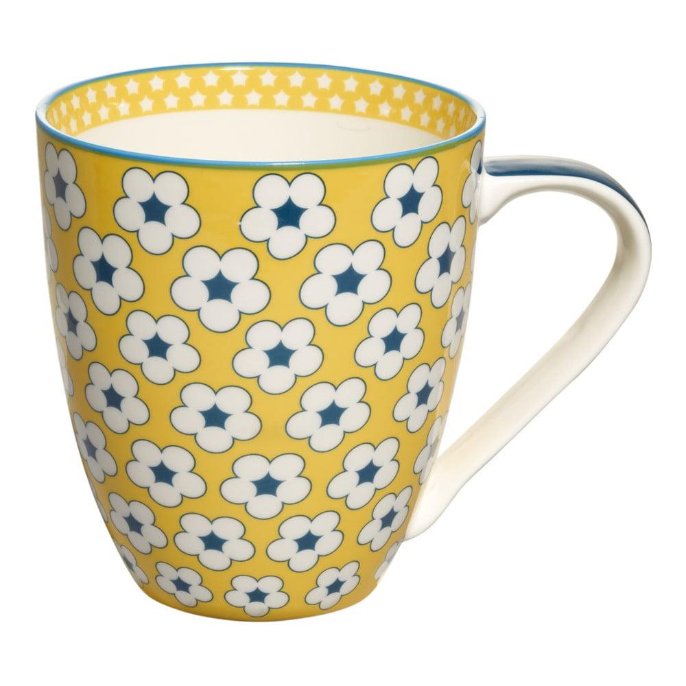 Žlutý porcelánový hrnek Maxwell & Williams Cotton Bud, 500 ml