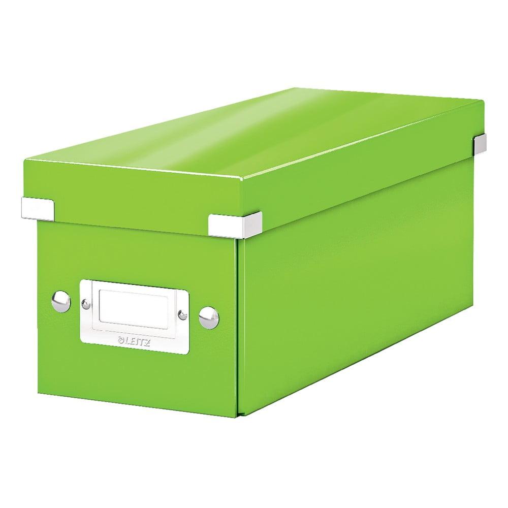 Zelená úložná krabice s víkem Leitz CD Disc, délka 35 cm