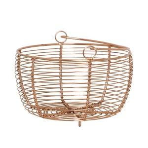 Kovový košík Handle Copper