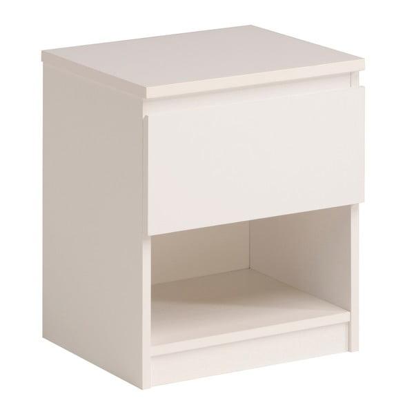 Bílý noční stolek se zásuvkou Parisot Chambray