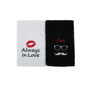 Sada 2 ručníků Always In Love, 50x90cm