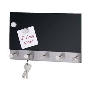 Cuier magnetic pentru haine cu tablă de scris Wenko Black Long