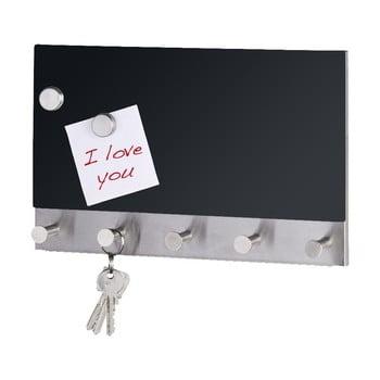Cuier magnetic pentru haine cu tablă de scris Wenko Black Long imagine