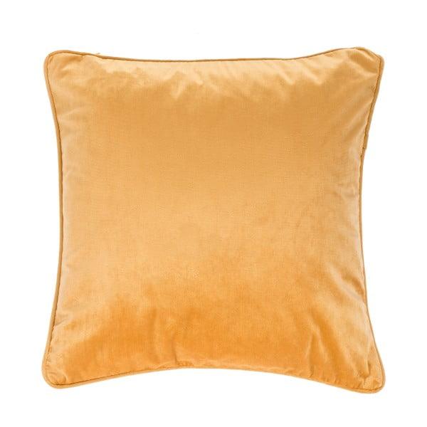 Tmavě žlutý polštář Tiseco Home Studio Velvety, 45x45cm