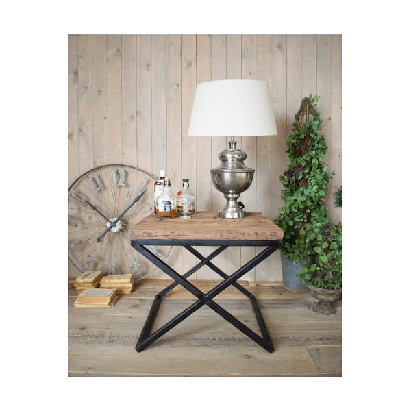 Odkládací stolek sdeskou zborovicového dřeva Orchidea Milano Old Factory