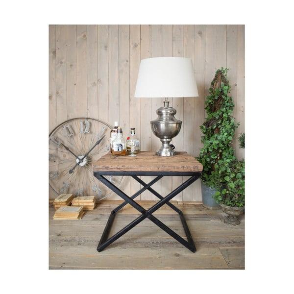 Stolik z blatem z drewna sosnowego Orchidea Milano Old Factory