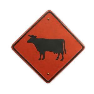 Cedule na stěnu Cow