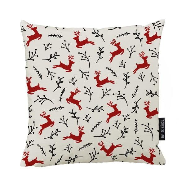 Vánoční polštář s bavlněným povlakem Butter Kings Deer,50x50cm