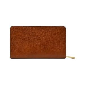 Karamelově hnědá kožená peněženka Infinitif Simone